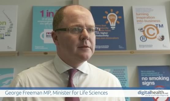 George Freeman, life sciences minister, delivers his message on health IT