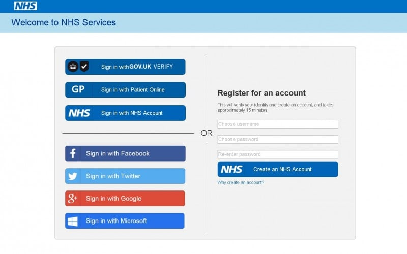 Verify (and Facebook) tested for NHS online identity service
