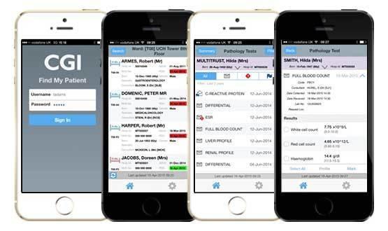 Hospital app tracks patients