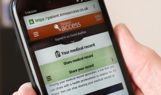 Emis Patient Access users can 'share your record'