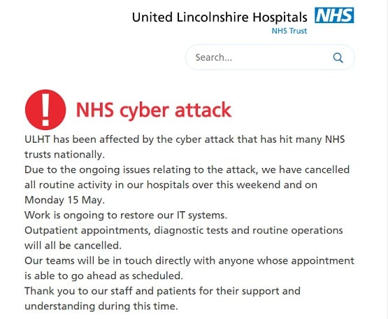 Trusts were told about security patch last month — NHS cyberattack
