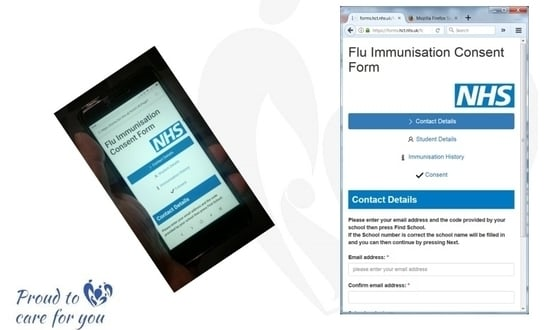 Hertfordshire trust digitises school immunisation consent process