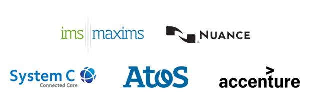 Summer School Sponsors - IMS MAXIMS, Nuance, System C, Atos, Accenture