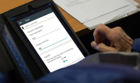 InHealthcare app works with INR self testing. A patient's readings are sent to the My Inhealthcare app.