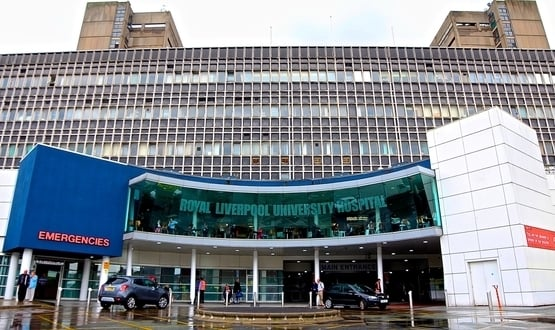 Exterior image of Royal Liverpool University Hospital