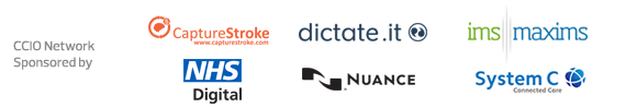 CCIO Network Sponsors - Capturestroke, dictate.it, IMS Maxims, NHS Digital, Nuance, System C