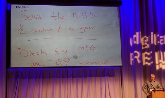 The a slide of the winning project at the Summer Schools NHS Hack Day