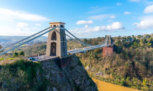 A shot of Clifton Suspension Bridge in Bristol