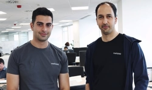 The CEOs of Medopad and Sherbit after the announcement of the acquisition