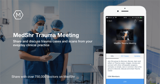 MedShr social media-style platform launches online trauma meeting