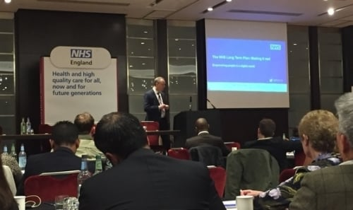 Matthew Swindells at NHS England Conference