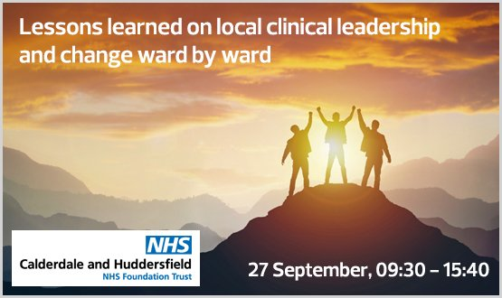 Lessons learned on local clinical leadership and change ward by ward