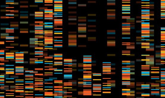 Image showing a computerised DNA sequence