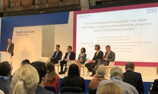 Image of the panel at NHS Expo