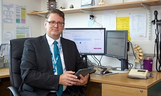 GP Dr Damian Williams from Hall Green Health in Birmingham uses Patient Access
